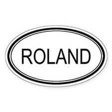 Roland Oval Design Oval Decal