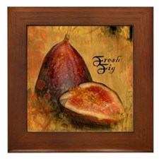 Botanical Fresh Fig Framed Tile