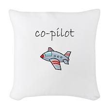 co-pilot.bmp Woven Throw Pillow
