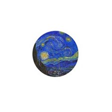 van Gogh: The Starry Night Mini Button (10 pack)