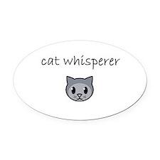cat whisperer.PNG Oval Car Magnet