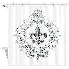 Vintage French Fleur de lis Shower Curtain