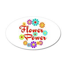 Flower Power Fun 20x12 Oval Wall Decal