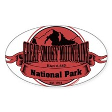 great smokey mountains 3 Decal