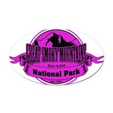 great smokey mountains 3 Oval Car Magnet