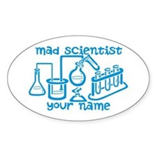 Personalized Mad Scientist Decal