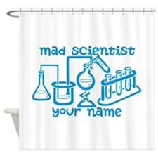 Personalized Mad Scientist Shower Curtain