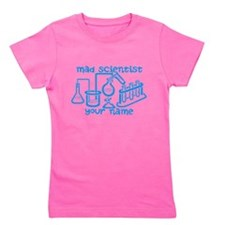 Personalized Mad Scientist Girl's Tee