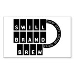 Swill Brand Rectangle Sticker