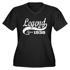 Legend Since 1938 Women's Plus Size V-Neck Dark T-
