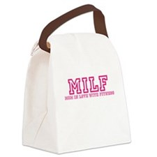 MILF Workout Shirt Canvas Lunch Bag