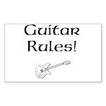 Guitar Rules Sticker