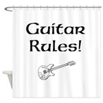 Guitar Rules Shower Curtain