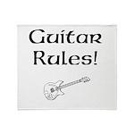 Guitar Rules Throw Blanket