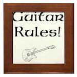 Guitar Rules Framed Tile