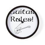 Guitar Rules Wall Clock