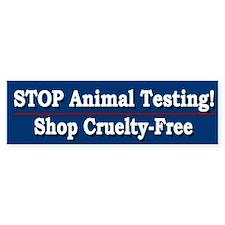 STOP Animal Testing - Bumper Bumper Sticker