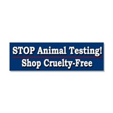 STOP Animal Testing - Car Magnet 10 x 3