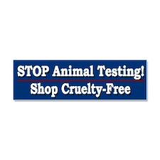 STOP Animal Testing - Car Magnet 10 x 3
