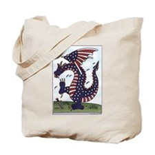 """Flag Dragon"" Patriotic Tote Bag"