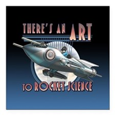 "Art to Rocket Science Square Car Magnet 3"" x 3"""