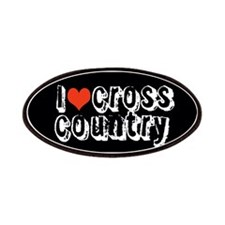 i heart (love) cross country Patches