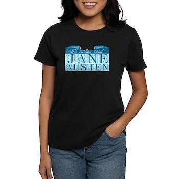ReadJaneAusten Blue Women's Dark T-Shirt