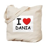 I love Dania Tote Bag
