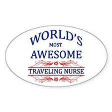 World's Most Awesome Traveling Nurse Decal