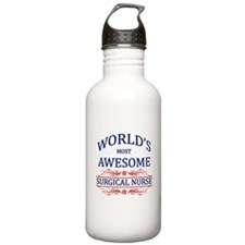 World's Most Awesome Surgical Nurse Water Bottle