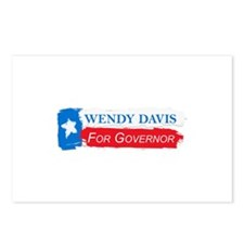 Wendy Davis Governor Flag Texas Postcards (Package