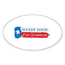 Wendy Davis Governor Flag Texas Decal
