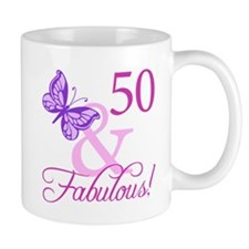 Fabulous 50th Birthday Mug