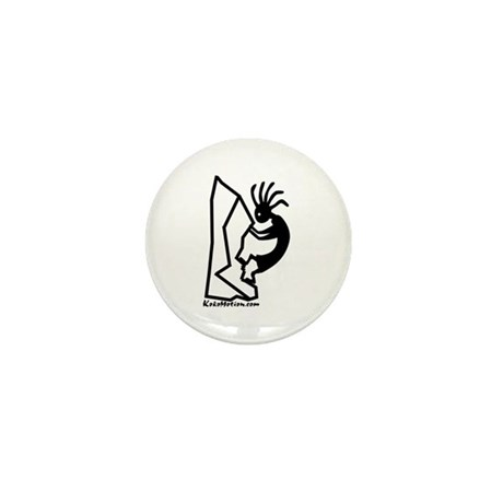 Kokopelli Rock Climber Mini Button