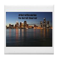 Detroit Revolution Tile Coaster