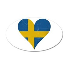 Sweden heart Wall Decal