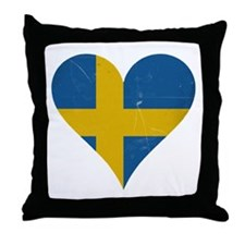 Sweden heart Throw Pillow