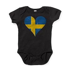 Sweden heart Baby Bodysuit