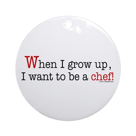 ... a chef Ornament (Round)