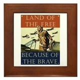 Land of the Free Framed Tile