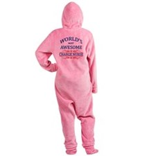 World's Most Awesome Charge Nurse Footed Pajamas