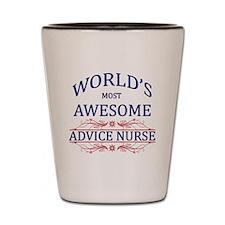 World's Most Awesome Advice Nurse Shot Glass