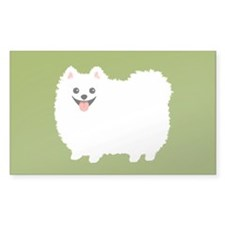 White Pomeranian Decal