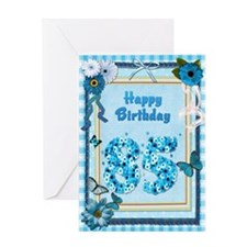 85th birthday craft-look card Greeting Card
