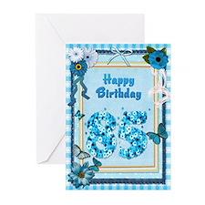 85th birthday craft-look card Greeting Cards (Pk o