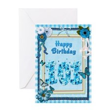 101st birthday craft-look card Greeting Card