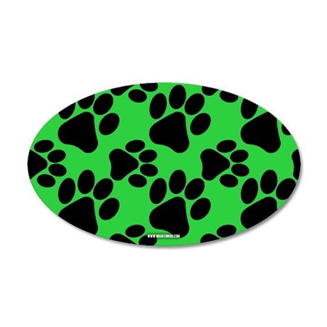 Dog Paws Green Wall Decal