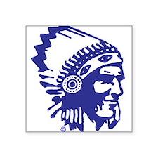 Blue Indian Head Dress Sticker