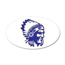 Blue Indian Head Dress Wall Decal
