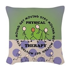 physical therapist pillow 4 Woven Throw Pillow